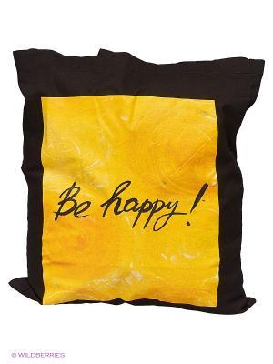 Сумка. Be happy! Эксмо. Цвет: черный, желтый