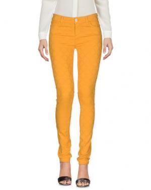 Повседневные брюки MANILA GRACE DENIM. Цвет: охра