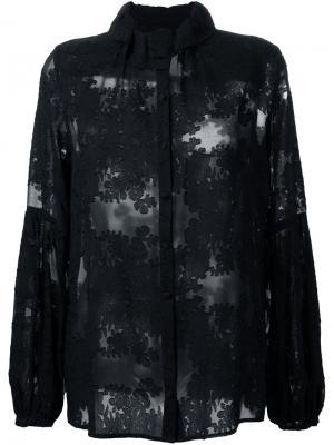 Блузка Black Caviar Macgraw. Цвет: чёрный