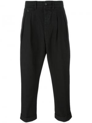 Укороченные брюки Wooster + Lardini. Цвет: чёрный