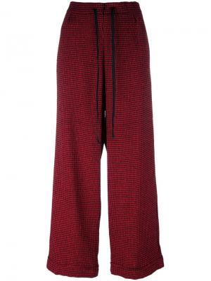 Широкие брюки Ultràchic. Цвет: красный