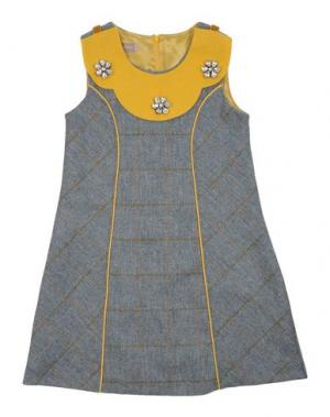 Платье LA STUPENDERIA. Цвет: пастельно-синий