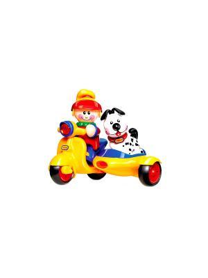 Игрушка Мопед с коляской Tolo. Цвет: желтый