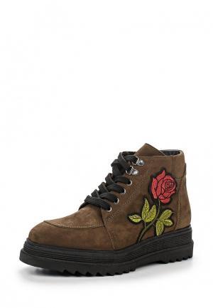 Ботинки Tervolina. Цвет: коричневый