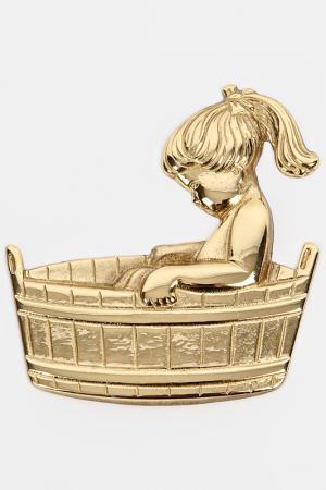 Набор табличек для туалета Stilars. Цвет: золотой