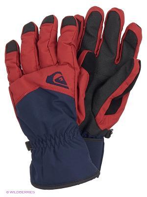 Перчатки Quiksilver. Цвет: бордовый