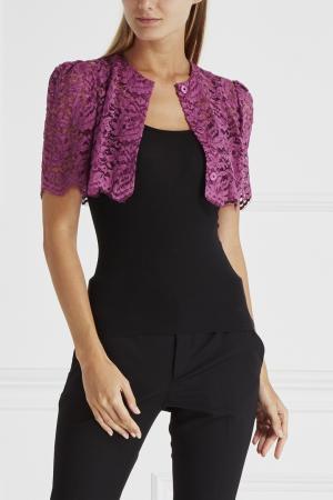 Кружевной жакет Dolce&Gabbana. Цвет: фиолетовый