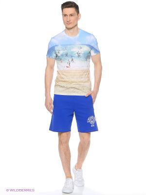 Футболка Colin's. Цвет: голубой