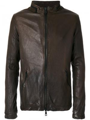 Куртка с двухсторонней застежкой-молнией Giorgio Brato. Цвет: коричневый