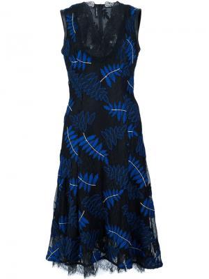 Кружевное платье Yigal Azrouel. Цвет: чёрный