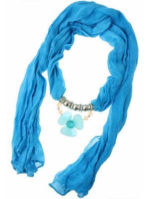 Платок Nina Ford. Цвет: голубой, золотистый