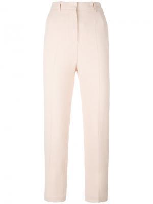 Зауженные укороченные брюки Rochas. Цвет: телесный