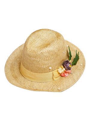 Шляпа Kameo-bis. Цвет: бежевый, желтый, зеленый