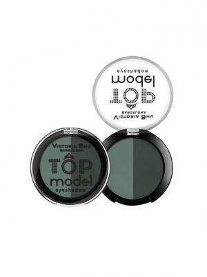 Тени для век Top Model №210 Victoria Shu. Цвет: бирюзовый, серо-зеленый