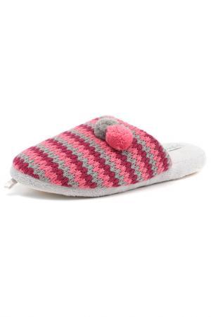 Тапочки De Fonseca. Цвет: розовый, серый