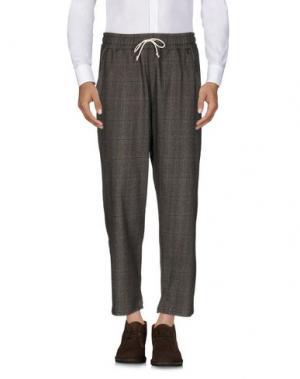 Повседневные брюки C.Y.H. CLAP YOUR HAND. Цвет: темно-коричневый