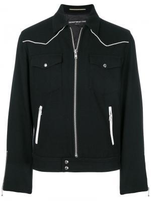 Куртка на молнии с накладными карманами Department 5. Цвет: чёрный