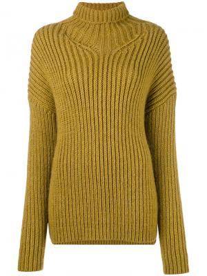 Джемпер крупной вязки A.F.Vandevorst. Цвет: жёлтый и оранжевый