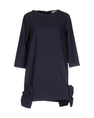 Короткое платье PINK BOW. Цвет: темно-синий