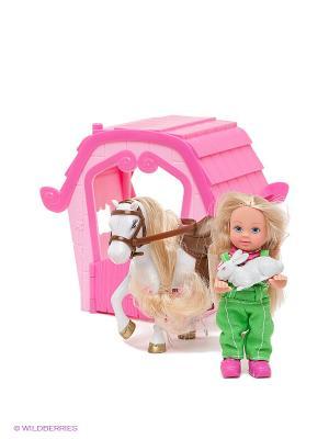 Набор Еви и ферма Simba. Цвет: розовый