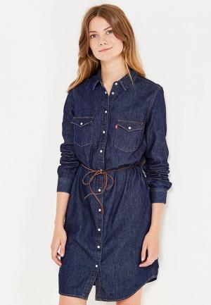Платье джинсовое Levis® Levi's®. Цвет: синий