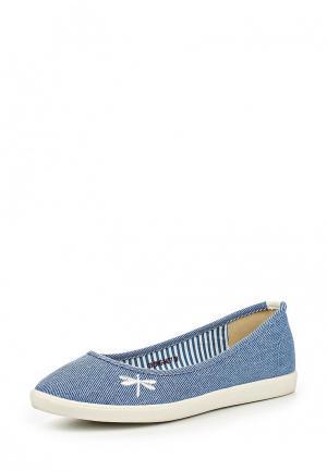 Балетки Zenden Comfort. Цвет: голубой