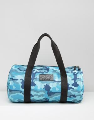 Heist Стеганая сумка с синим камуфляжным принтом. Цвет: синий