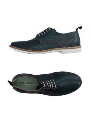 Обувь на шнурках WALLY WALKER. Цвет: цвет морской волны
