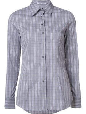Рубашка в клетку Walter Voulaz. Цвет: серый