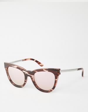 Le Specs Солнцезащитные очки кошачий глаз с розовыми линзами Debuan