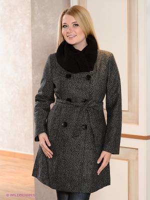 Пальто La Reine Blanche. Цвет: серый, черный