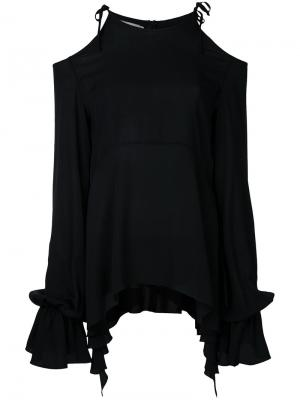 Джемпер с открытыми плечами и завязками Goen.J. Цвет: чёрный