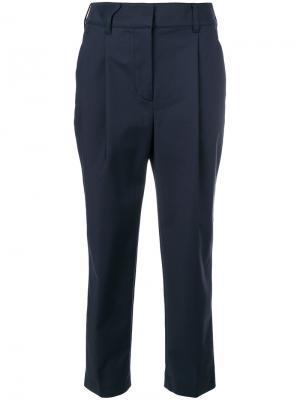 Укороченные классические брюки 3.1 Phillip Lim. Цвет: синий