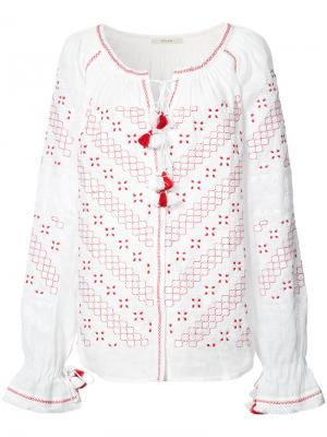 Detailed embroidery contrast blouse Vita Kin. Цвет: белый