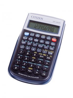 Калькулятор карманный SLD-100N 8 разрядов, двойное питание, 58*87*12 мм, черный CITIZEN. Цвет: черный