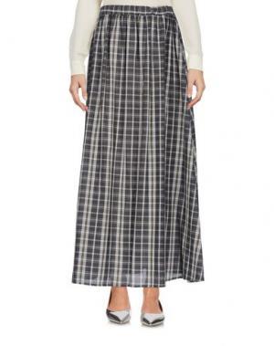 Длинная юбка A.B APUNTOB. Цвет: свинцово-серый
