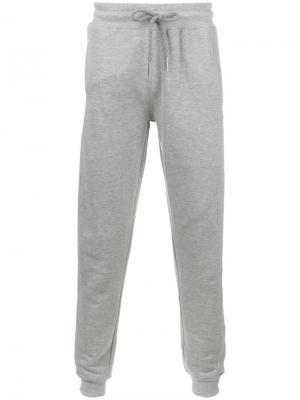 Спортивные брюки с эластичным поясом Blood Brother. Цвет: серый