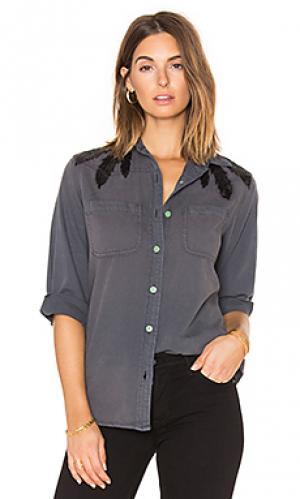 Рубашка с застёжкой на пуговицах Sandrine Rose. Цвет: уголь