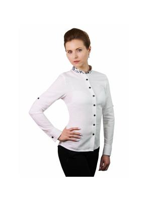 Блузка WHITE CUFF. Цвет: белый