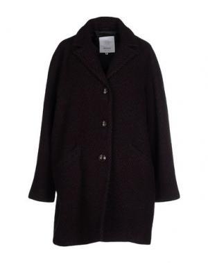 Пальто ELVINE. Цвет: фиолетовый
