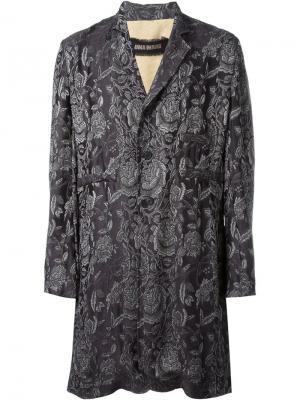 Жаккардовое пальто Eduard Uma Wang. Цвет: коричневый
