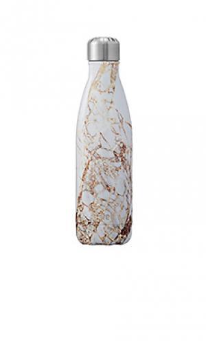 Бутылка для вода объёма 17 унций elements Swell S'well. Цвет: металлический золотой