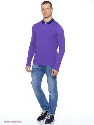 Лонгслив U.S. Polo Assn.. Цвет: синий, фиолетовый
