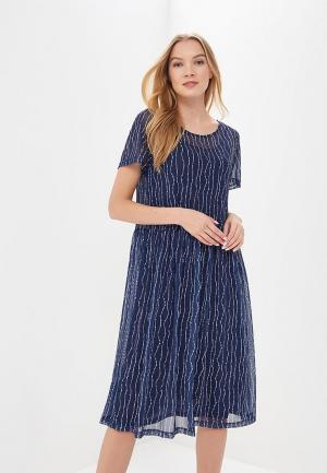 Платье Ichi. Цвет: синий