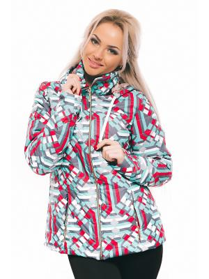 Куртка Issa Plus. Цвет: серый, красный