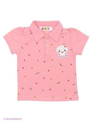 Футболка-поло Kidly. Цвет: розовый