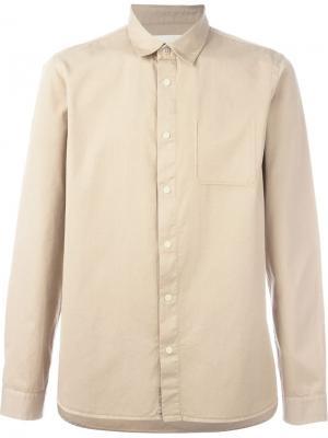 Рубашка на кнопках Folk. Цвет: телесный