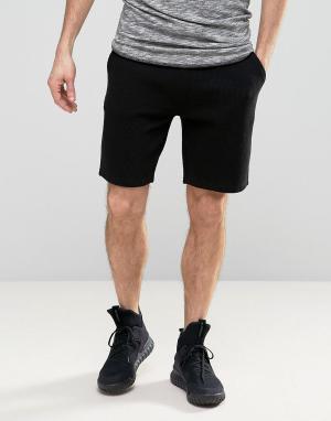 ASOS Черные трикотажные шорты. Цвет: черный