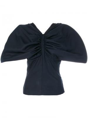 Wide shoulder top Jacquemus. Цвет: синий
