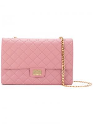 Quilted crossbody bag Designinverso. Цвет: розовый и фиолетовый